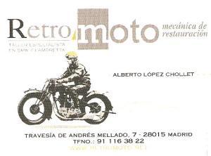 RetroMoto tarjeta